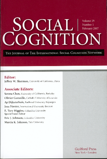 Social Cognition25(1)cover
